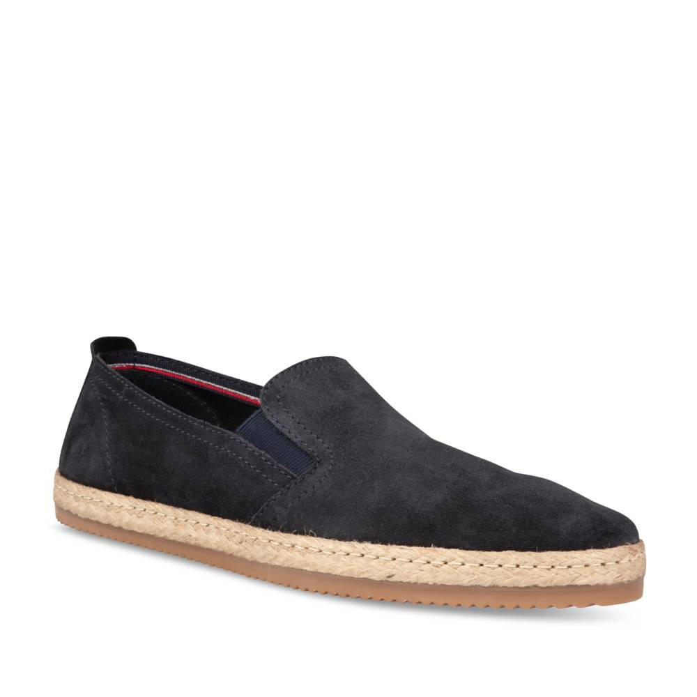 Espadrilles NAVY DENIM SIDE CUIR