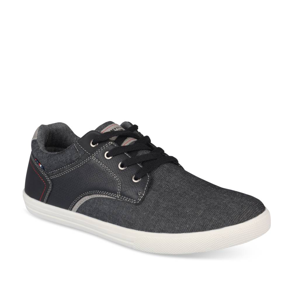 Hoge sneakers ZWART DENIM SIDE