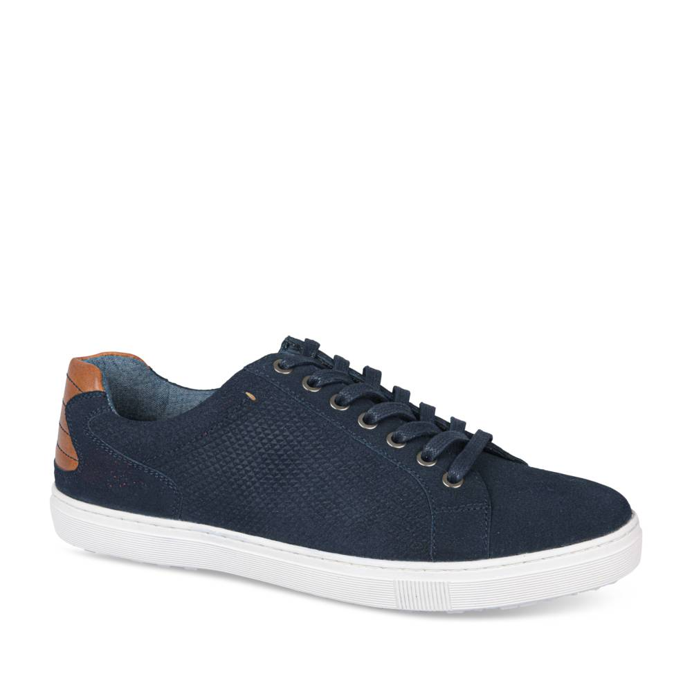 Baskets MARINE DENIM SIDE CUIR