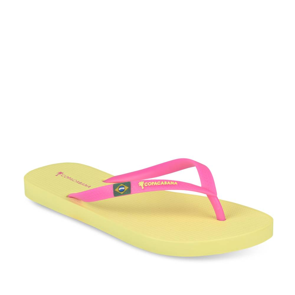 Tongs plates JAUNE COPACABANA