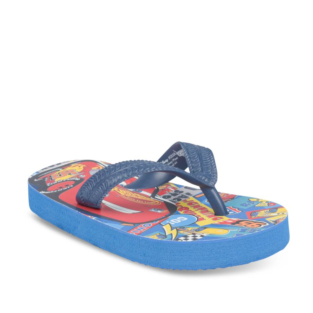 Teenslippers BLAUW CARS