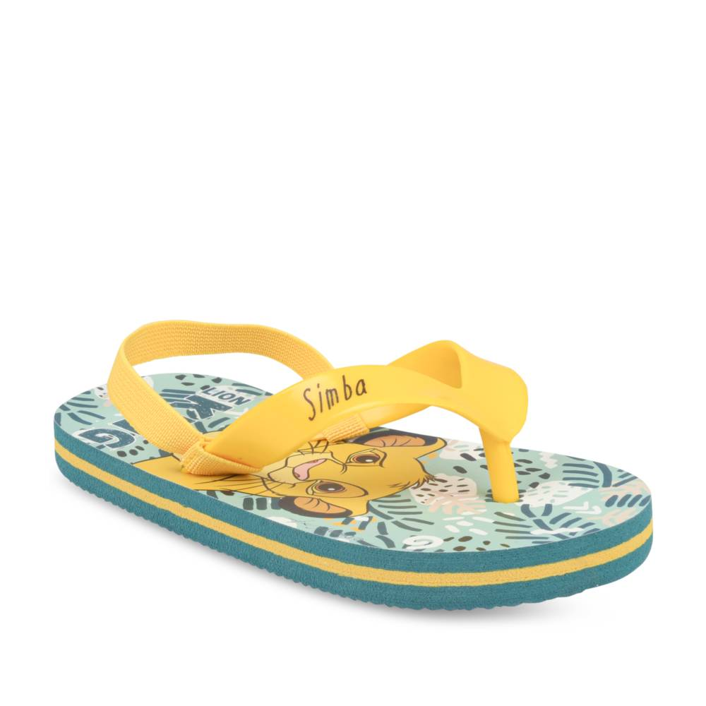 Teenslippers GROEN LE ROI LION