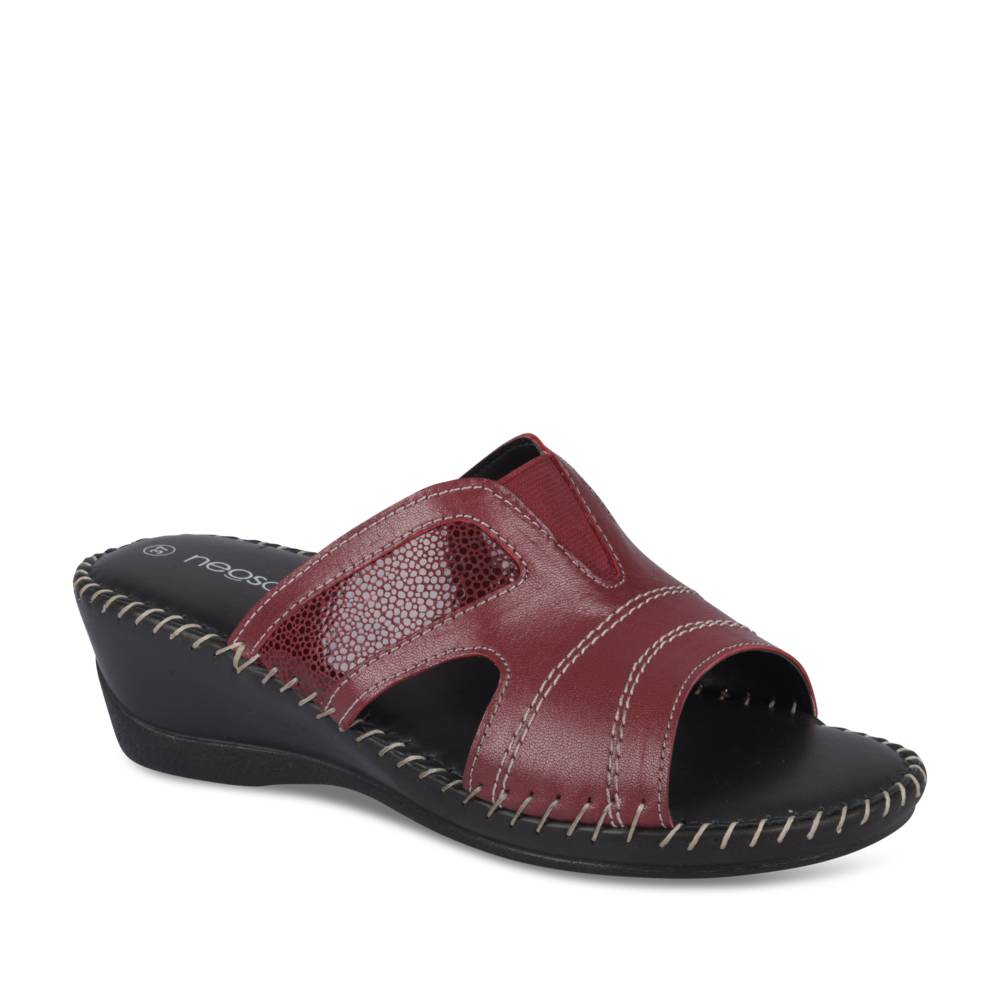 Mules ROUGE NEOSOFT RELAX CUIR