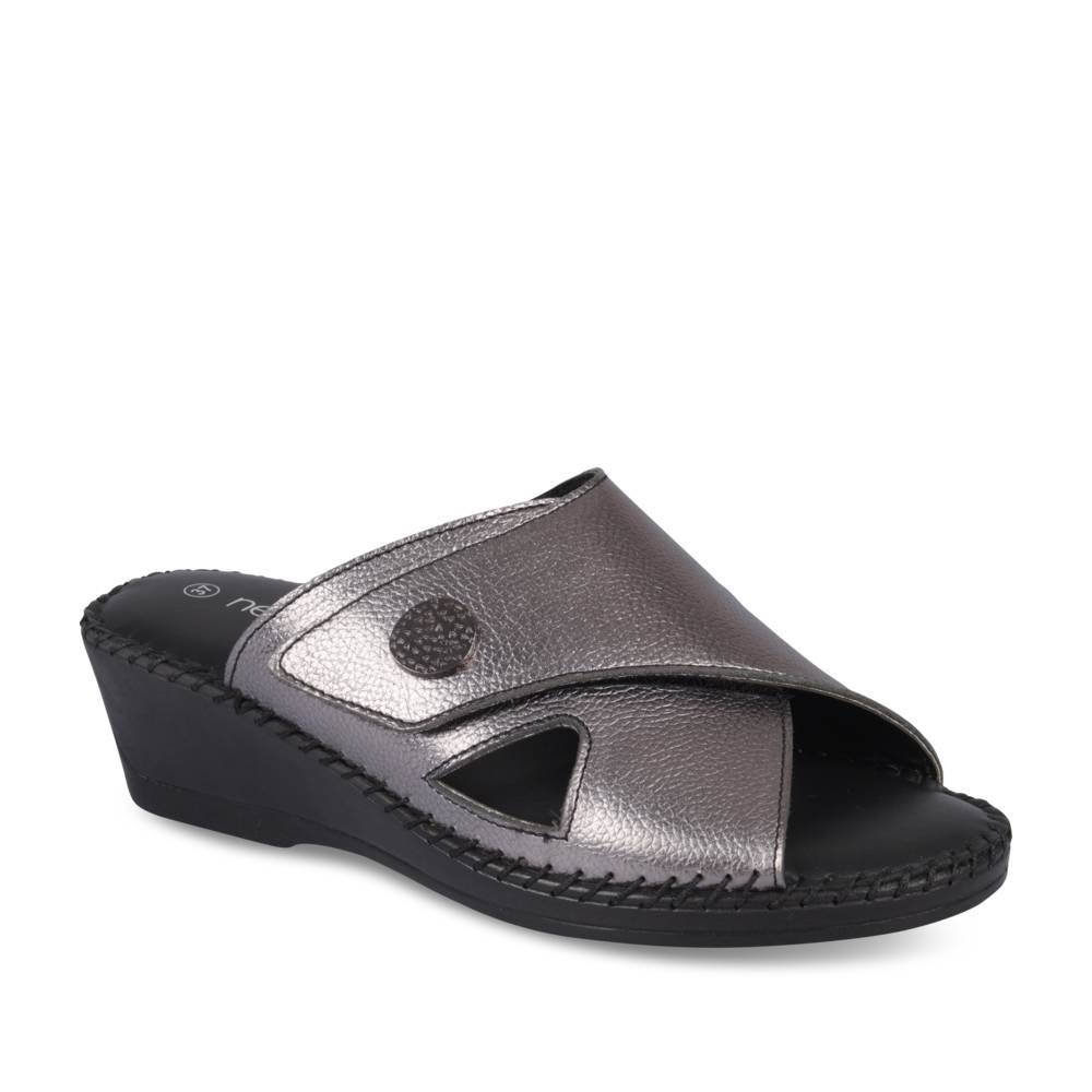 Mules ARGENT NEOSOFT RELAX CUIR