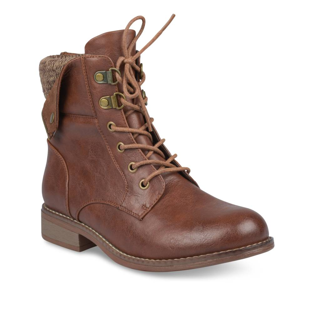 Bottines plates MARRON MERRY SCOTT