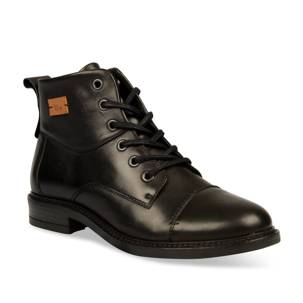Bottines plates NOIR MEGIS CASUAL