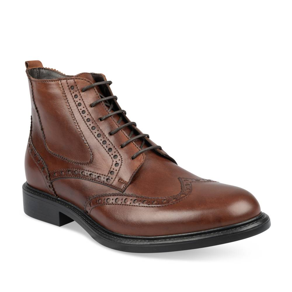 Bottines MARRON B-BLAKE CUIR