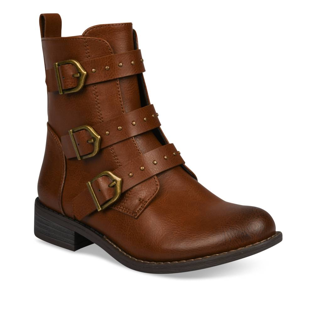 Bottines COGNAC LOVELY SKULL