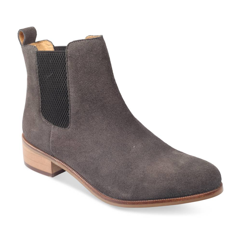 Bottines plates GRIS MEGIS CASUAL