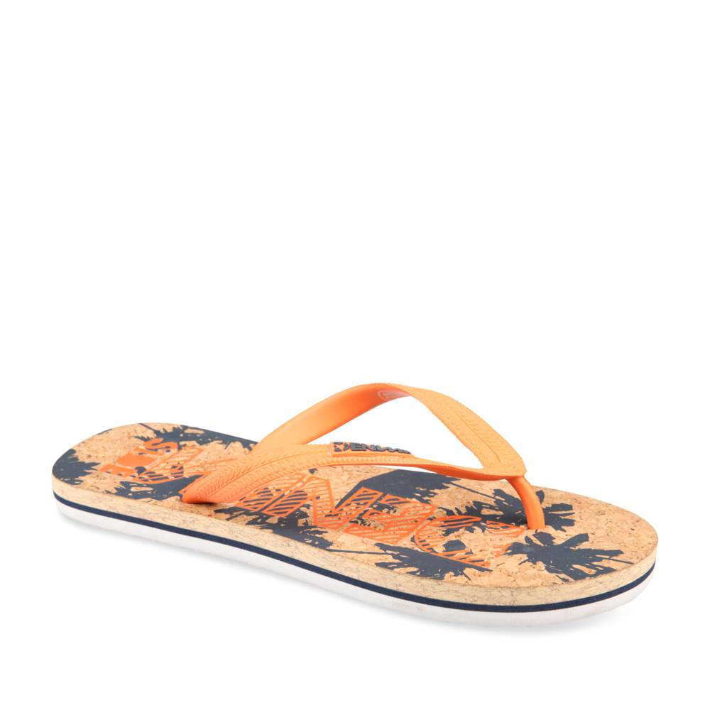 Teenslippers ORANJE DENIM SIDE