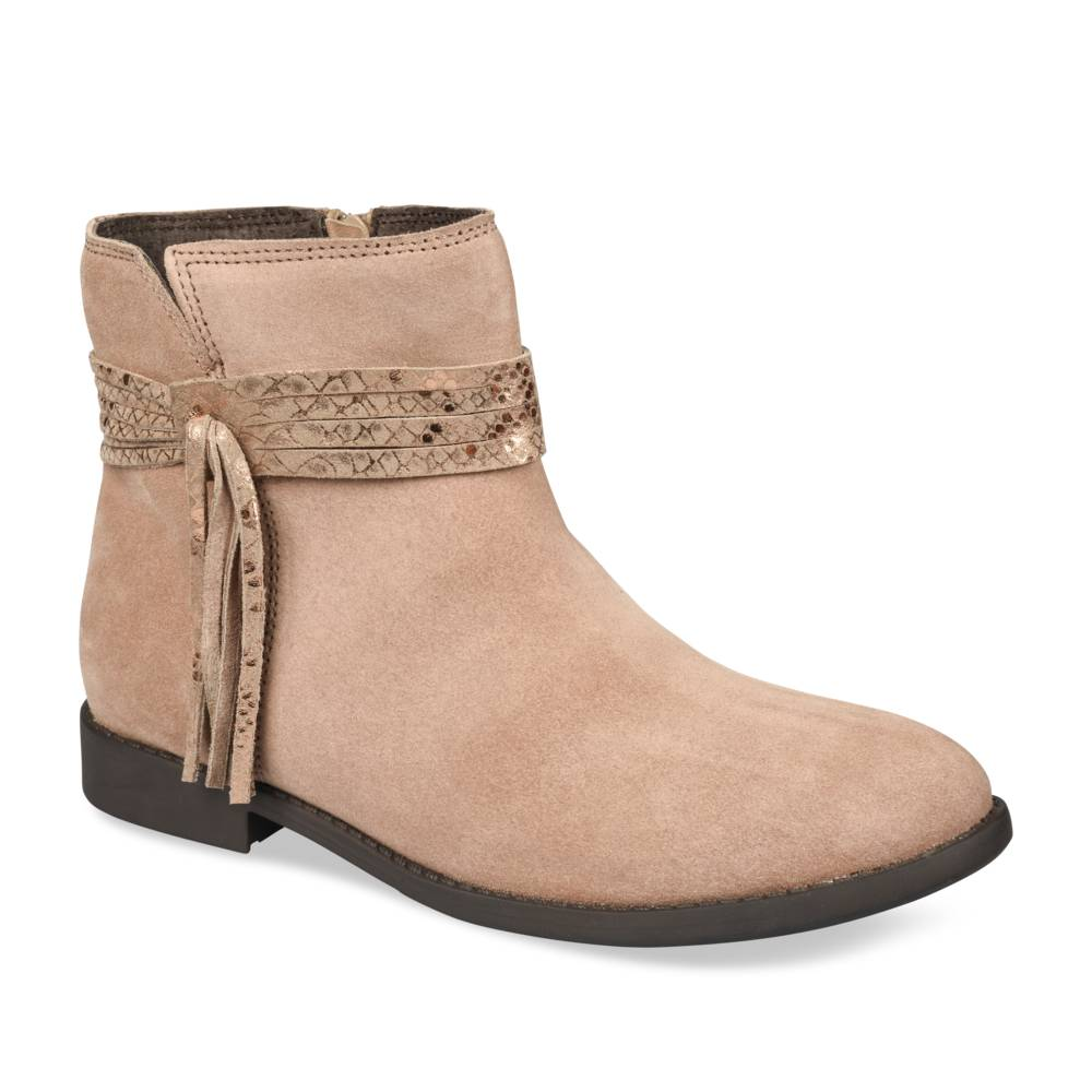 Bottines TAUPE LOVELY SKULL CUIR