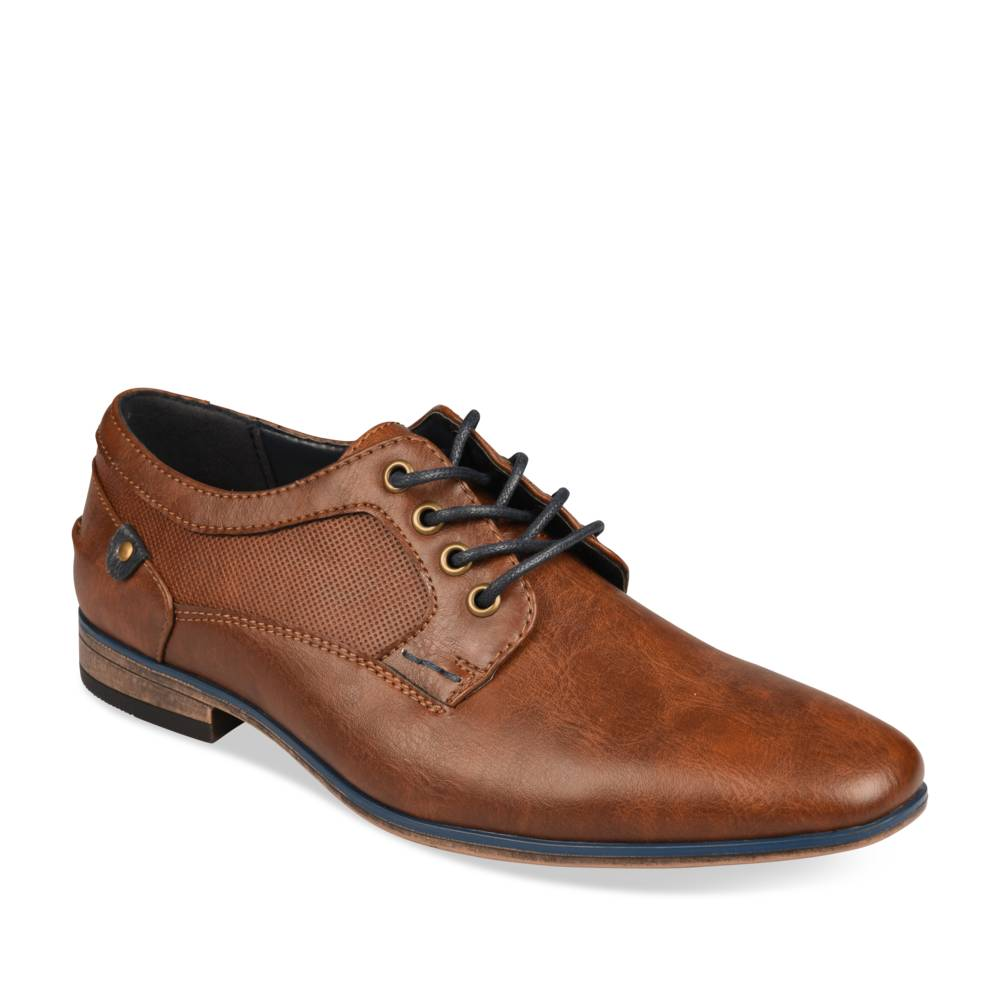 Derbies COGNAC DENIM SIDE JUNIOR