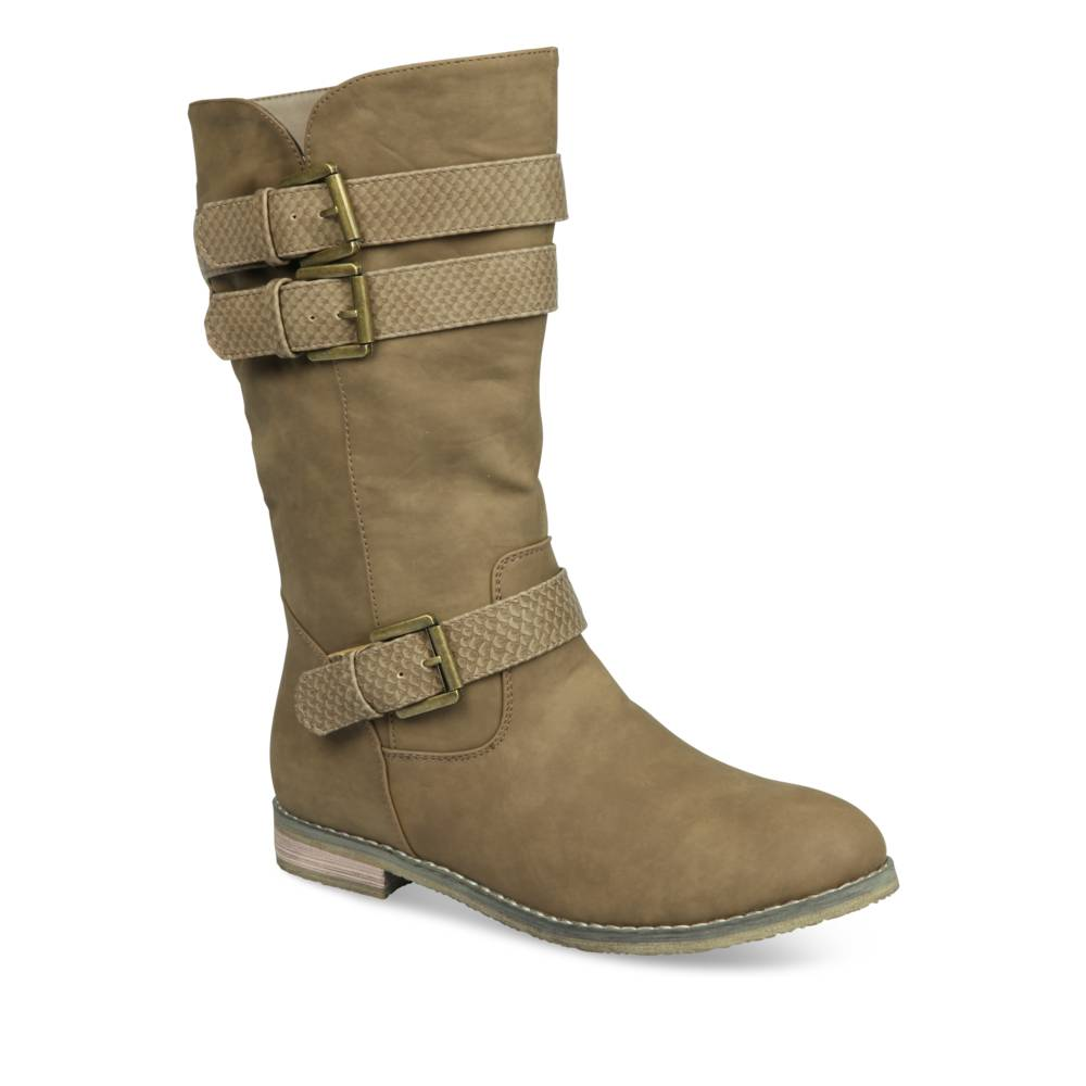 Bottines plates BEIGE MERRY SCOTT
