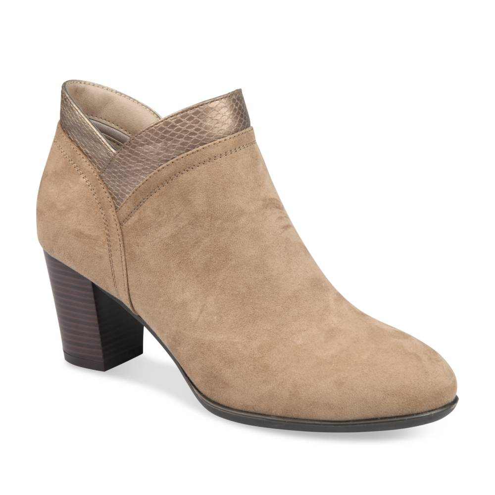 Bottines à talon BEIGE GRANDS BOULEVARDS