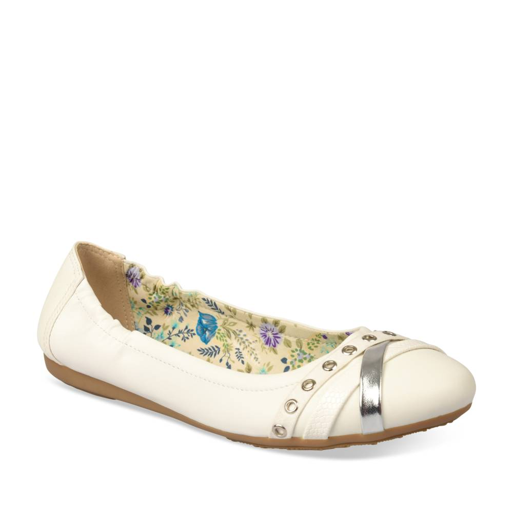Ballerines BLANC MERRY SCOTT