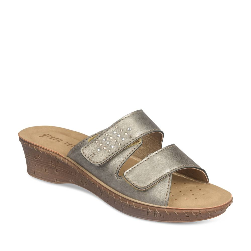 Mules GRIS GREEN RELAX