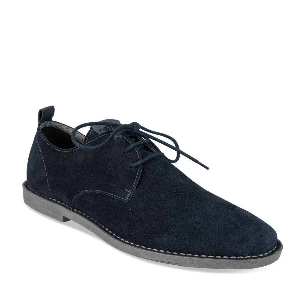 Veterschoen BLAUW DENIM SIDE CUIR