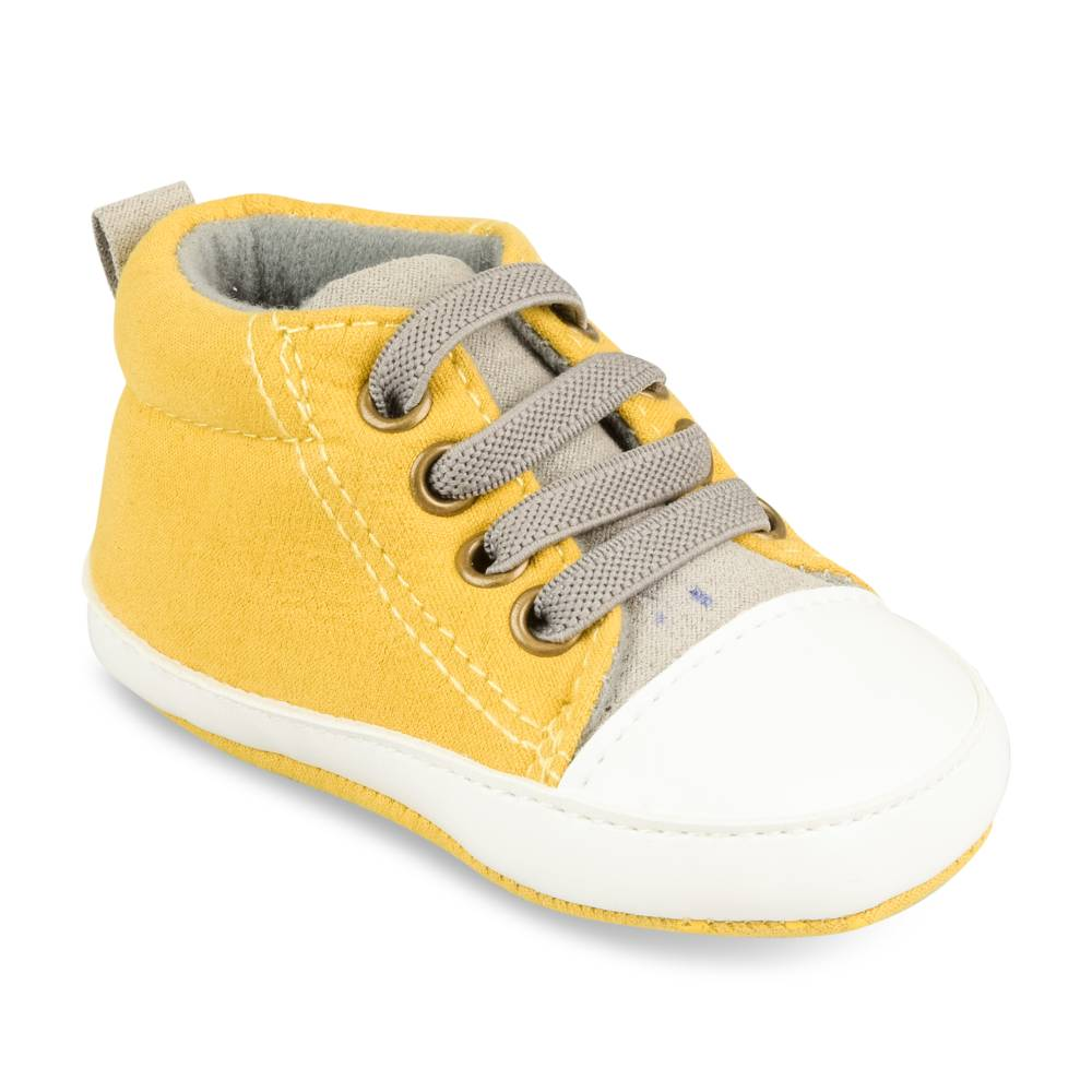 Baskets JAUNE FREEMOUSS BOY LAYETTE
