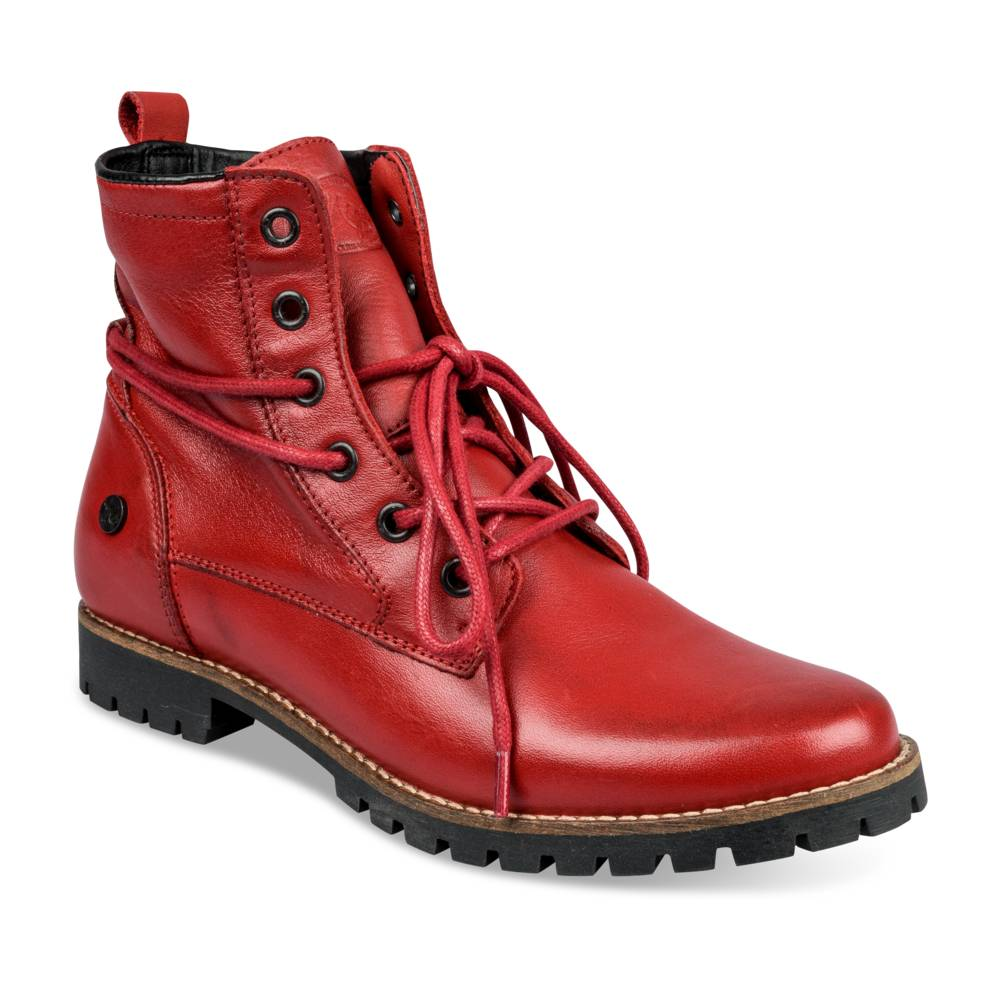Bottines plates ROUGE MEGIS ELEGANT