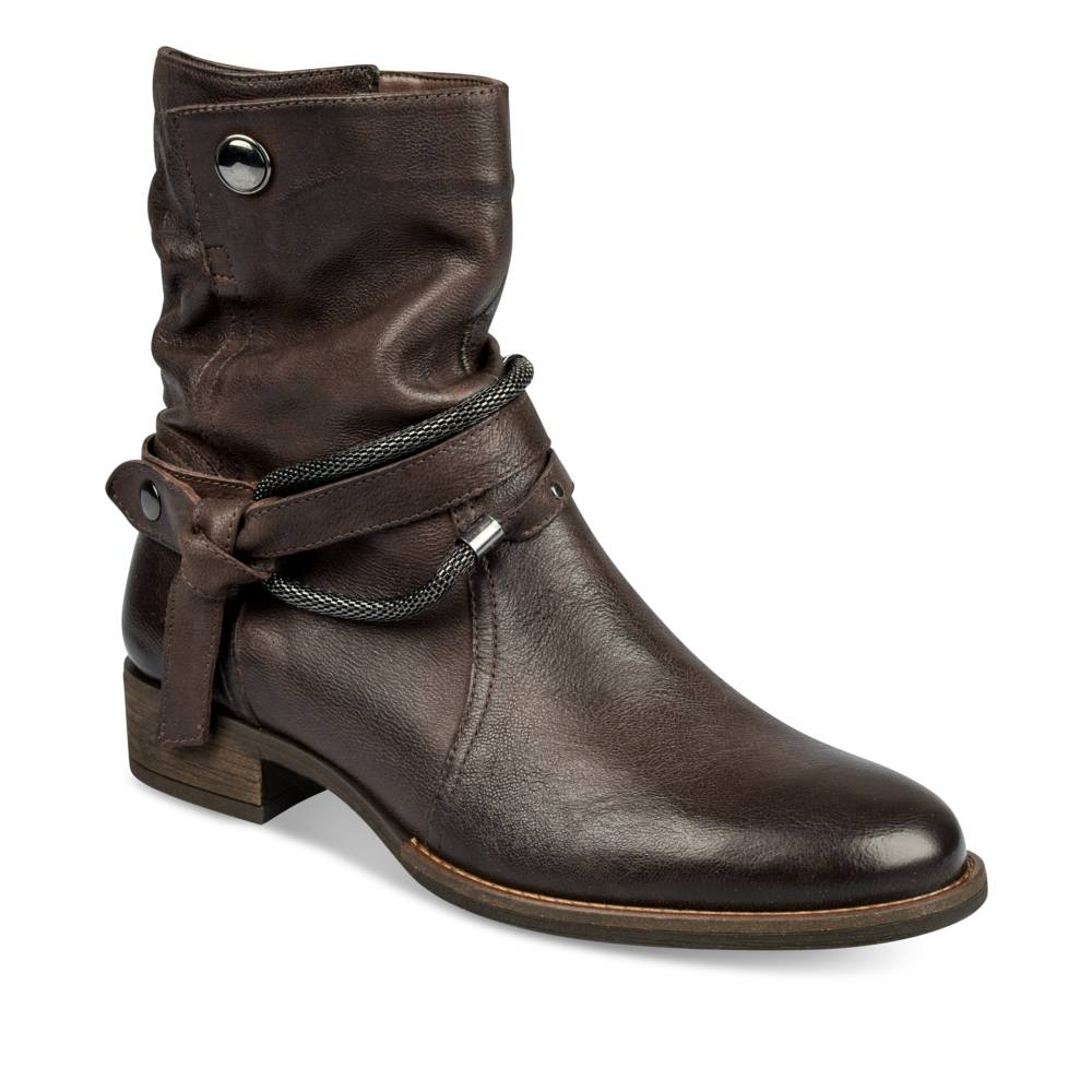 Bottines plates MARRON MEGIS ELEGANT