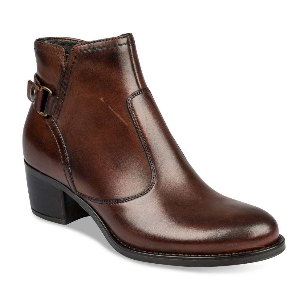 Bottines à talon MARRON MEGIS ELEGANT