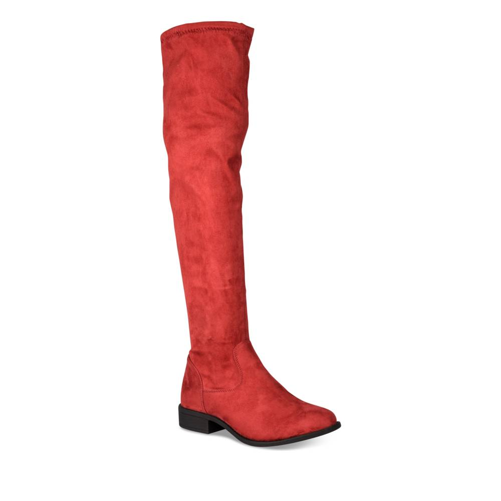 Bottes plates ROUGE MERRY SCOTT