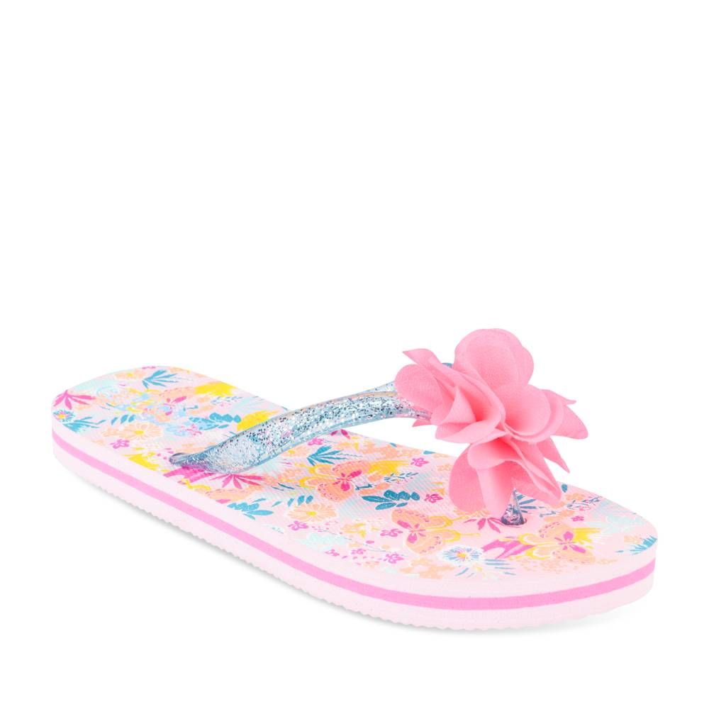 Teenslippers ROZE LOVELY SKULL