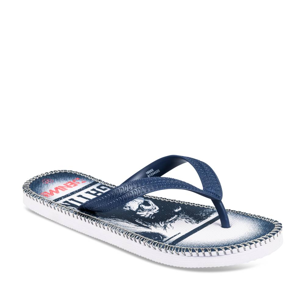 Teenslippers BLAUW DENIM SIDE JUNIOR