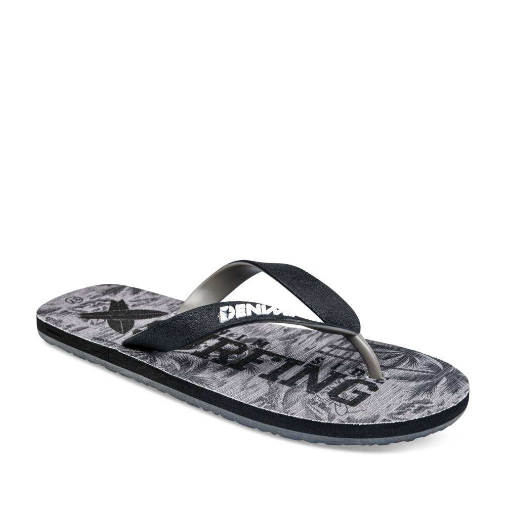 Teenslippers GRIJS DENIM SIDE JUNIOR