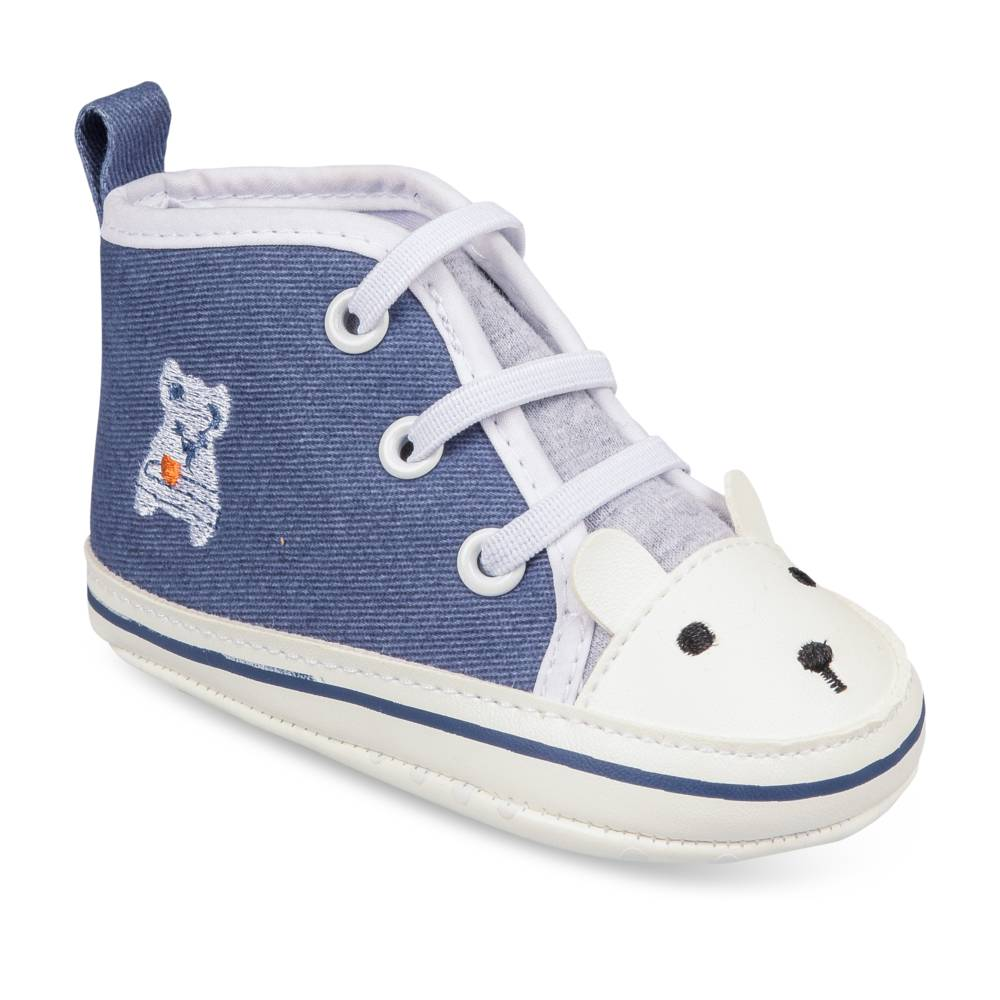 Baskets BLEU FREEMOUSS BOY LAYETTE