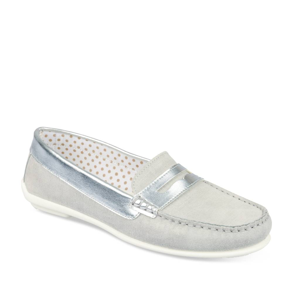 Mocassins GRIS EVITA LEATHER