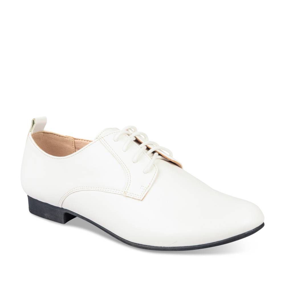 Derbies BLANC MERRY SCOTT