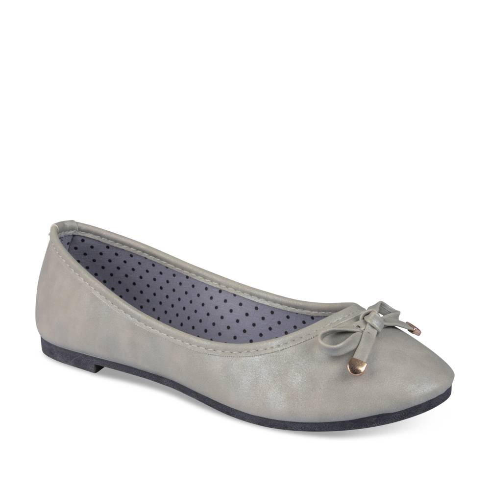 Ballerines plates GRIS MERRY SCOTT