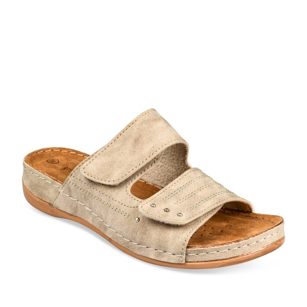 Mules BEIGE GREEN RELAX