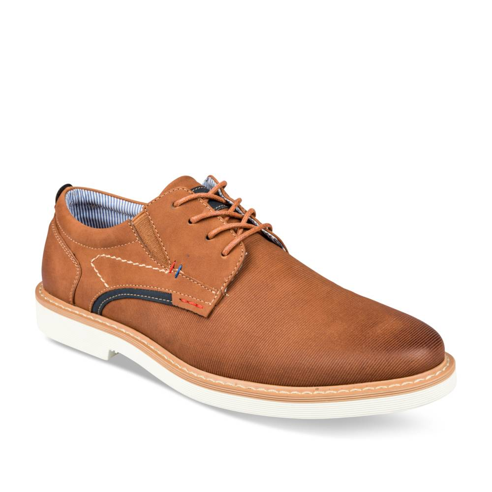 Derbies COGNAC DENIM SIDE