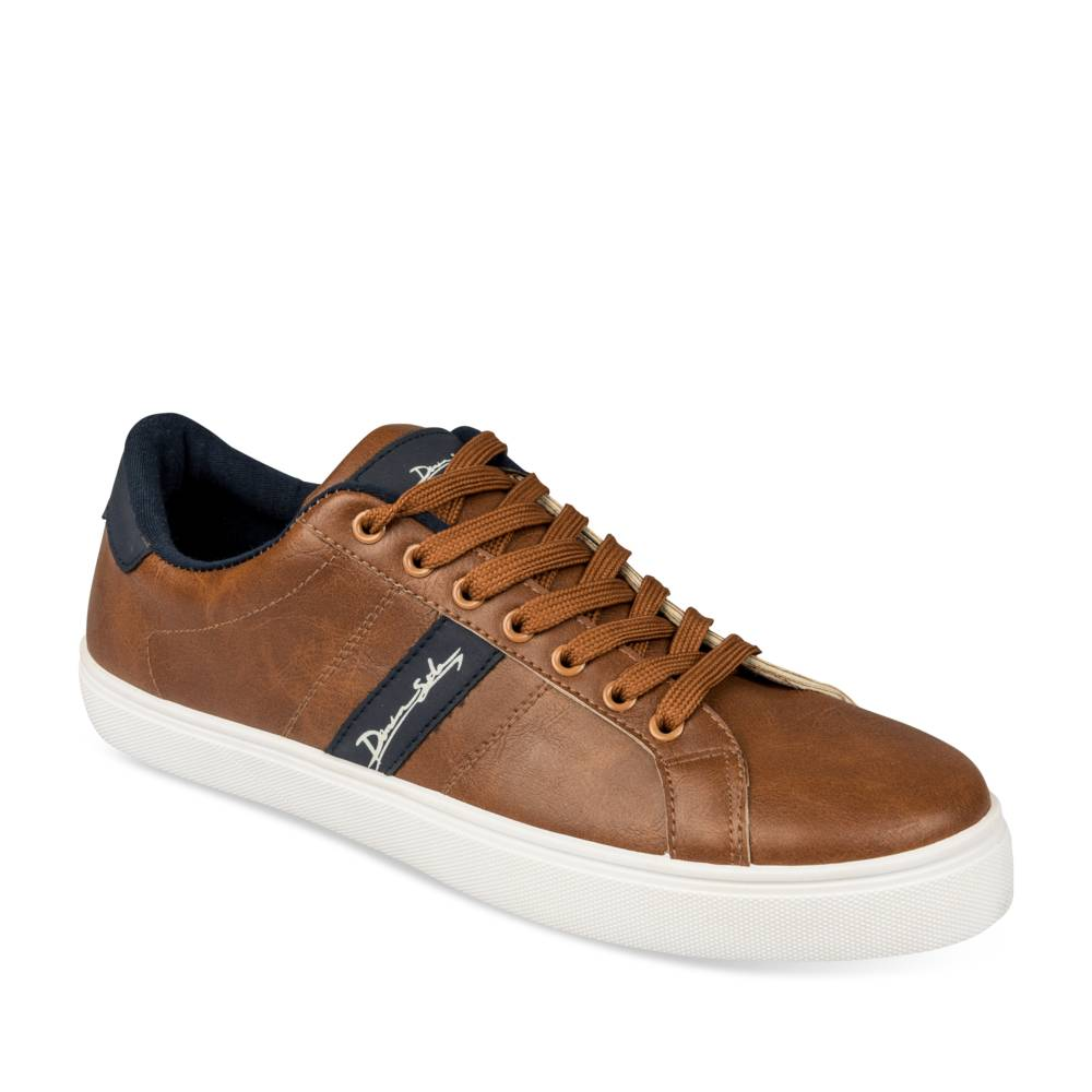 Baskets COGNAC DENIM SIDE