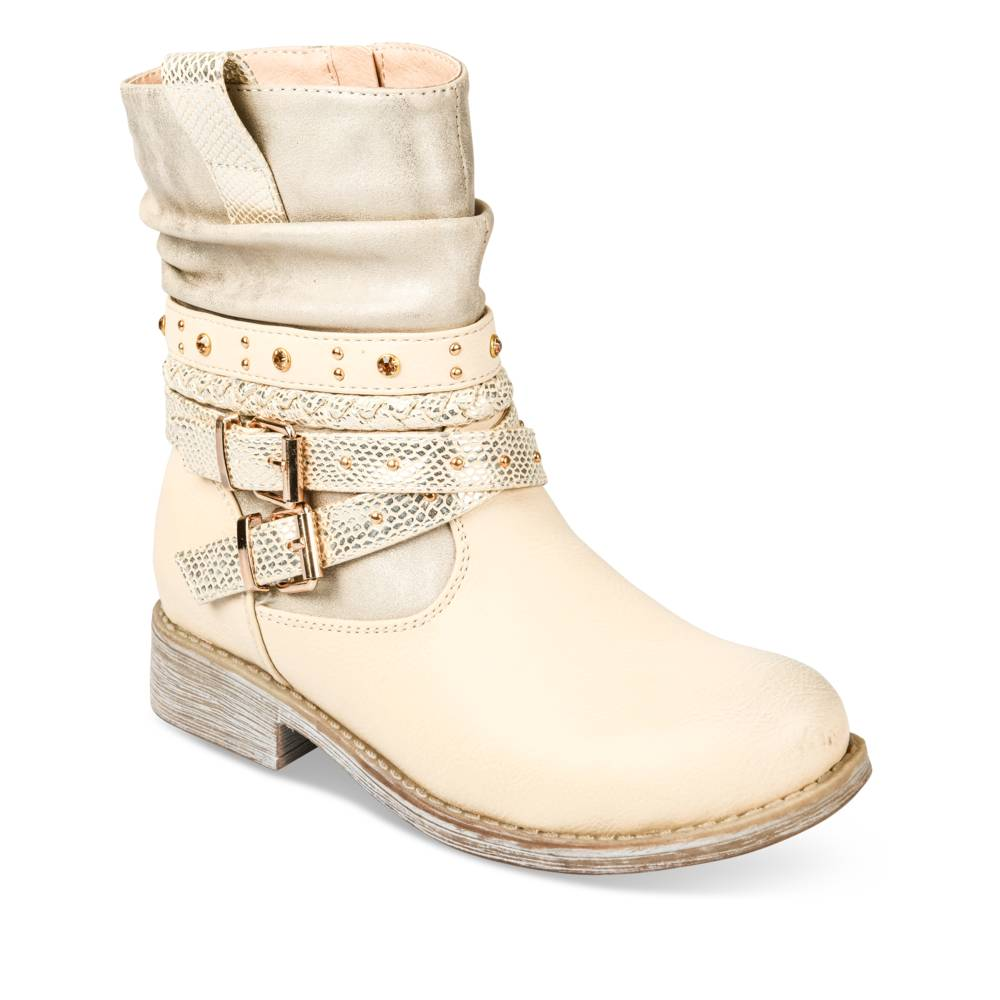 Bottines BEIGE LOVELY SKULL