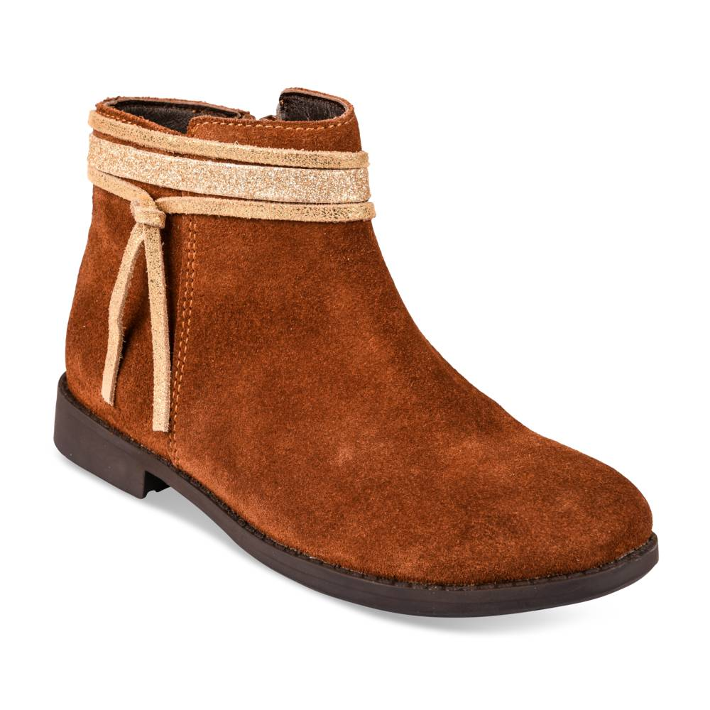 Bottines COGNAC LOVELY SKULL CUIR