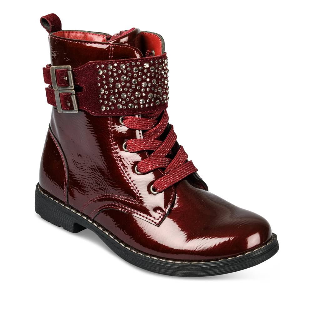 Bottines BORDEAUX LOVELY SKULL