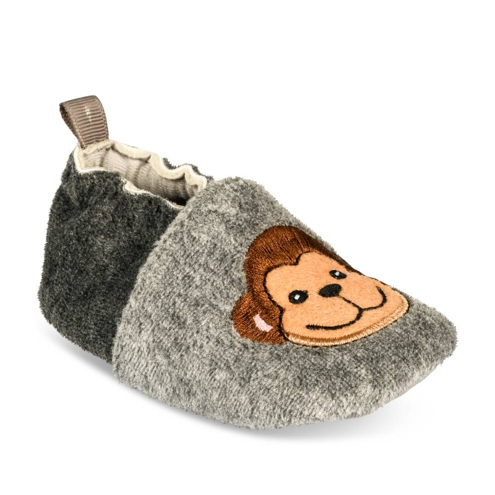 Chaussons GRIS FREEMOUSS BOY LAYETTE