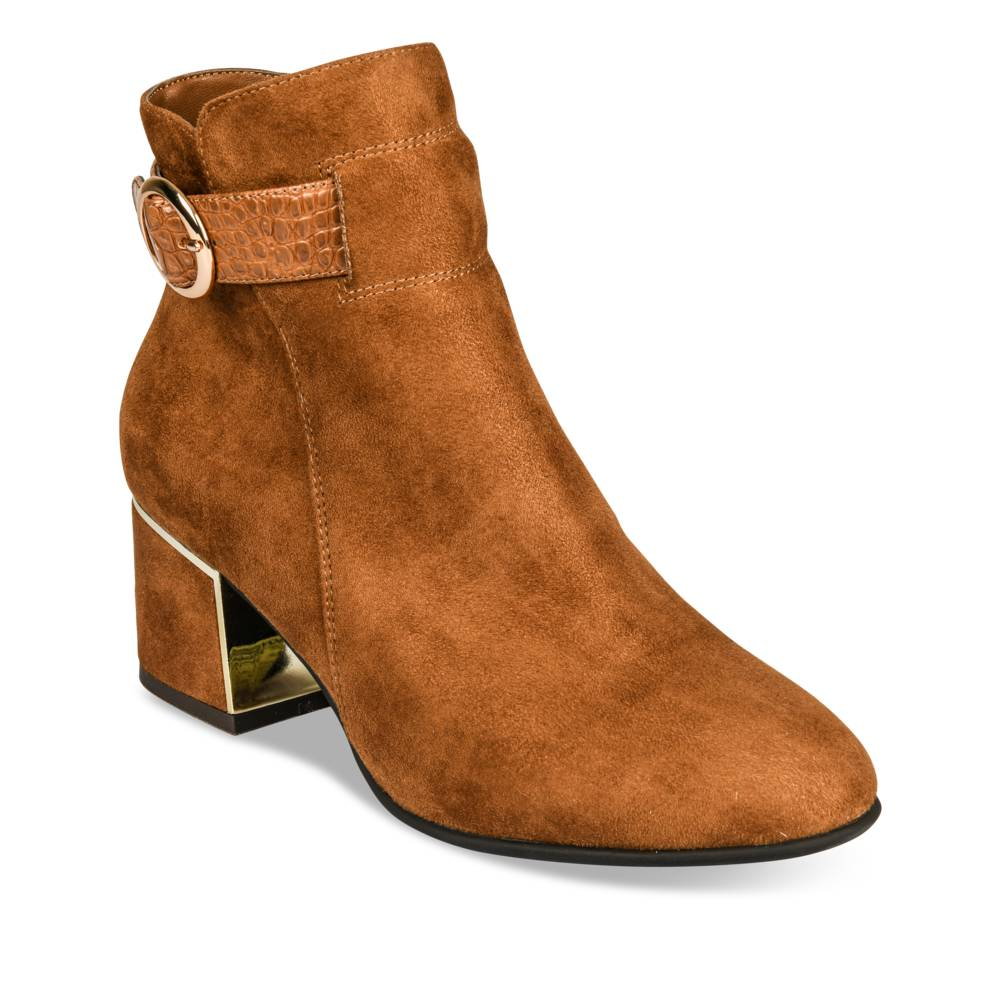 Bottines à talon COGNAC ANGELA THOMPSON