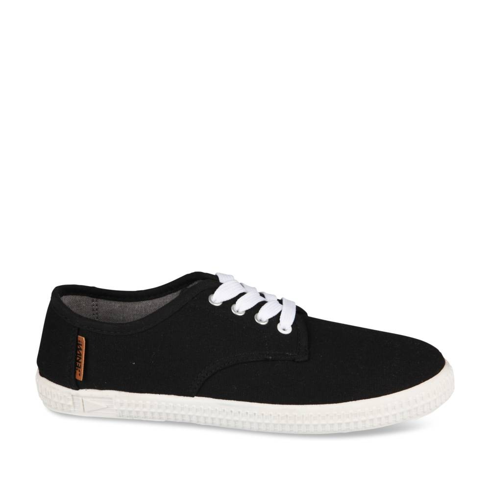 Baskets Noir Denim Side Sport