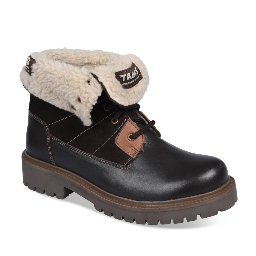 d896b554fbf03 Bottines MARRON TAMS CUIR - Bottines et Boots - Garçon - Enfants