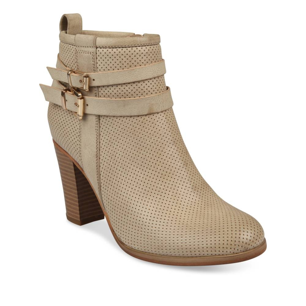 bottines beige closer - femme - destockage