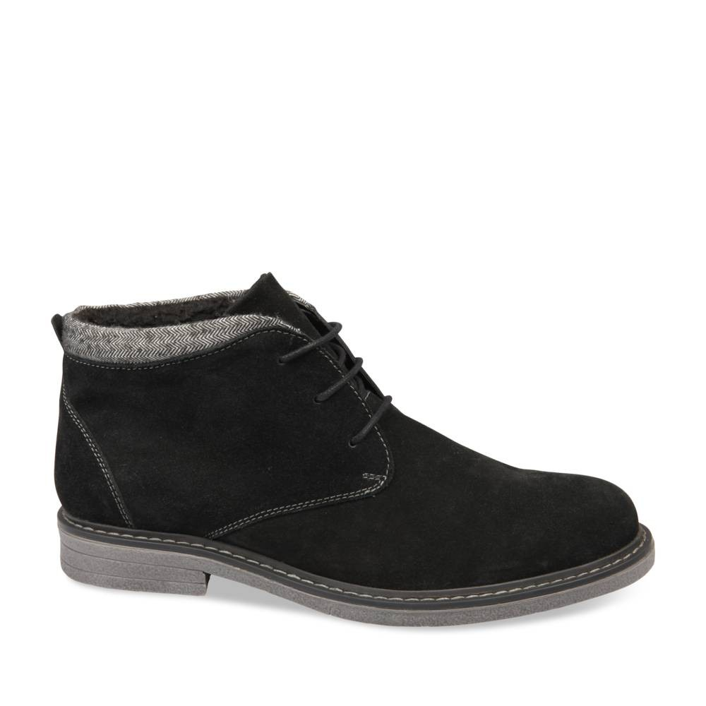 Derbies Noir Denim Side Cuir