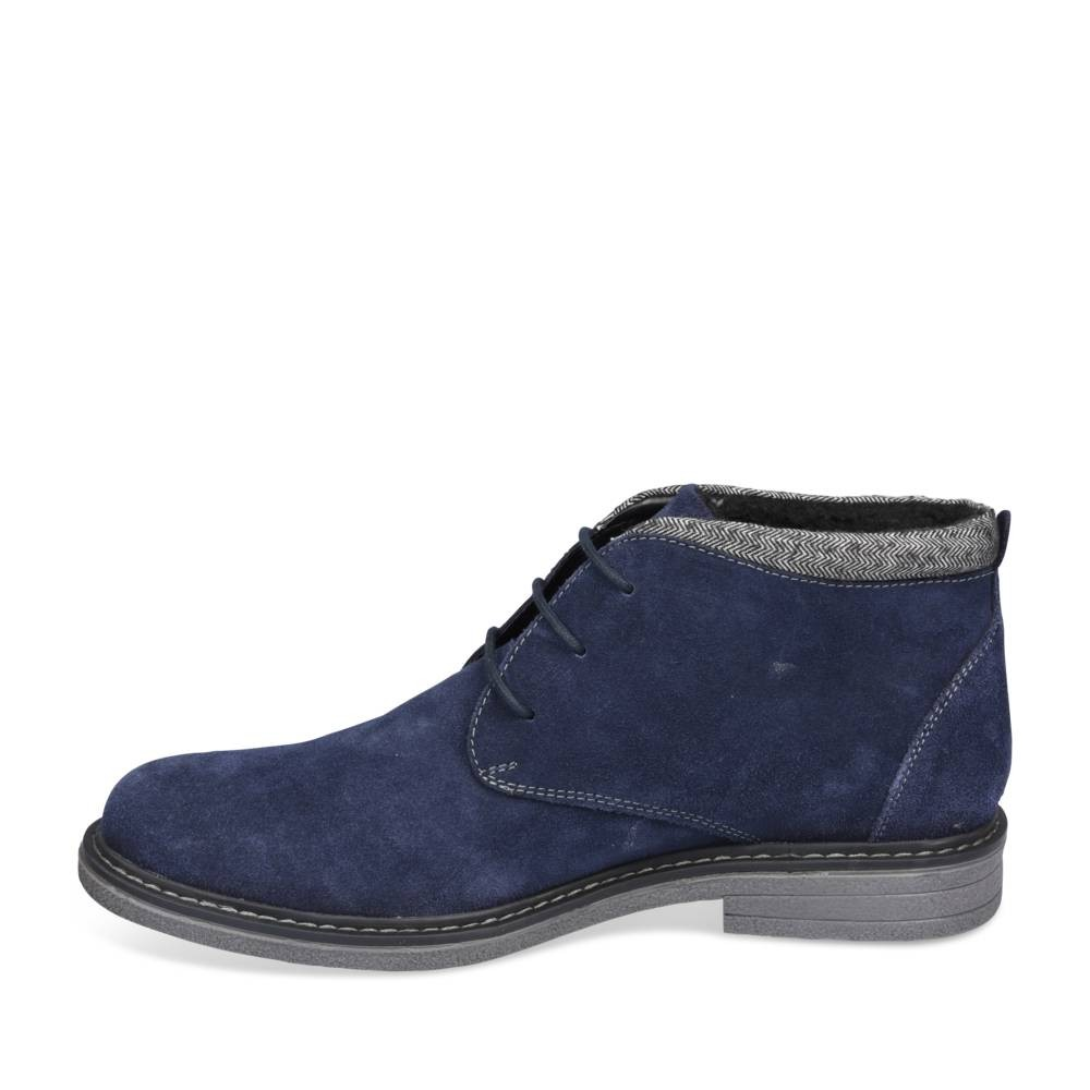 Bottines Bleu Denim Side Cuir
