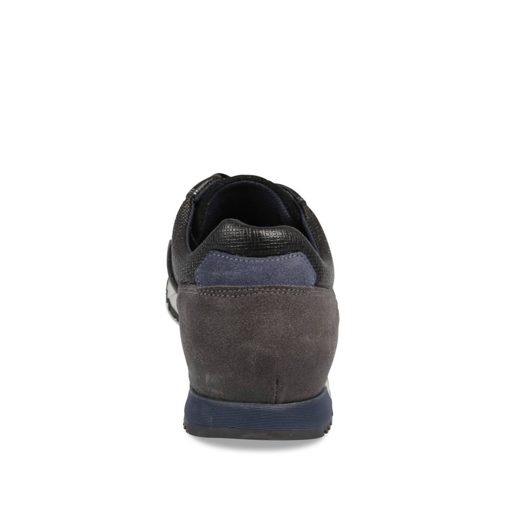 Baskets Noir Denim Side Cuir
