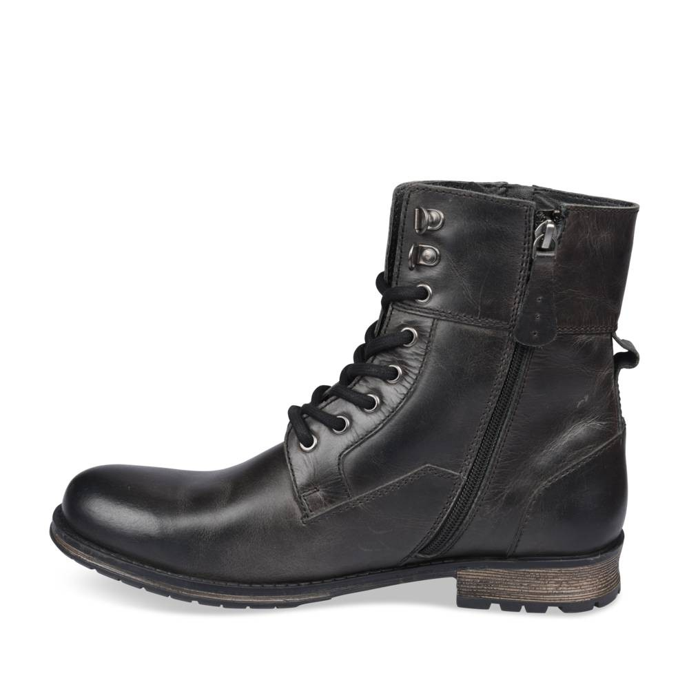 Bottines Noir Denim Side Cuir UM7ClR