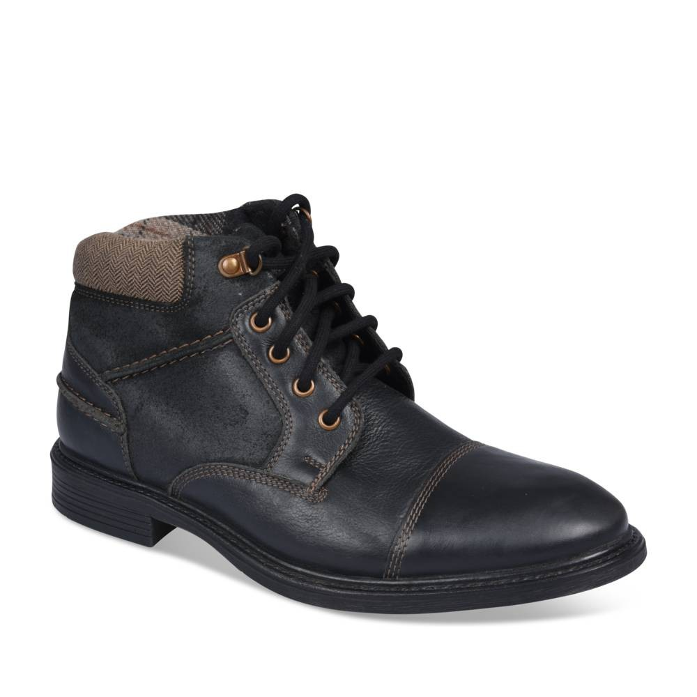 Bottines Noir Cape Mountain Cuir