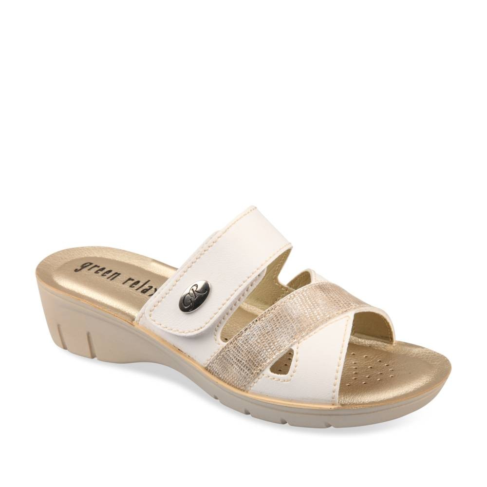 Mules Et Sabots Blanc Green Relax